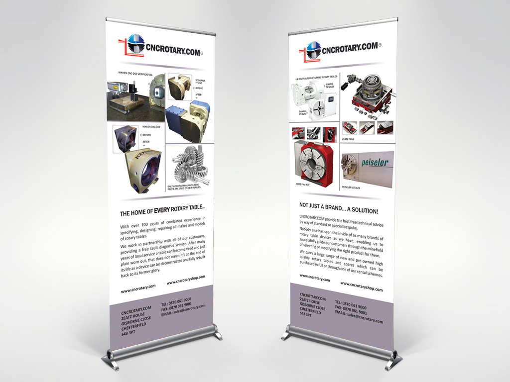 Budget pull up banner stands