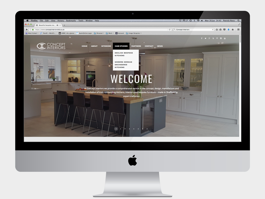 Concept Interiors Ltd, Fully responsiveWebsite design, Wordpress, SEO, fully responsive, Sheffield, website build, brand consultancy, branding, graphic design