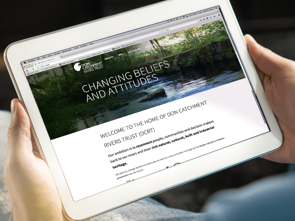 Don Catchment Rivers Trust, Fully responsiveWebsite design, Wordpress, SEO, fully responsive, Sheffield, website build, brand consultancy, branding, graphic design