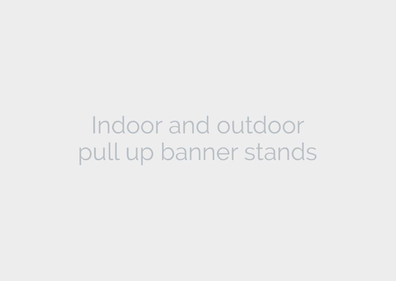 indoor and outdoor banner stands