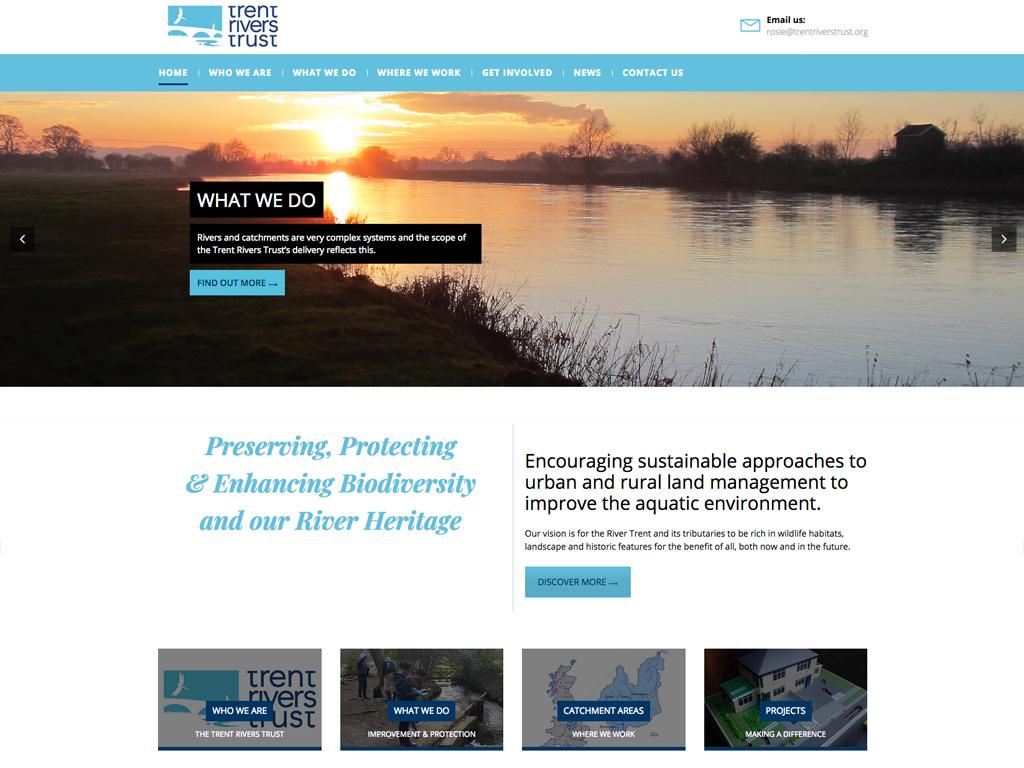 Trent Rivers trust, Fully responsiveWebsite design, Wordpress, SEO, fully responsive, Sheffield, website build, brand consultancy, branding, graphic design