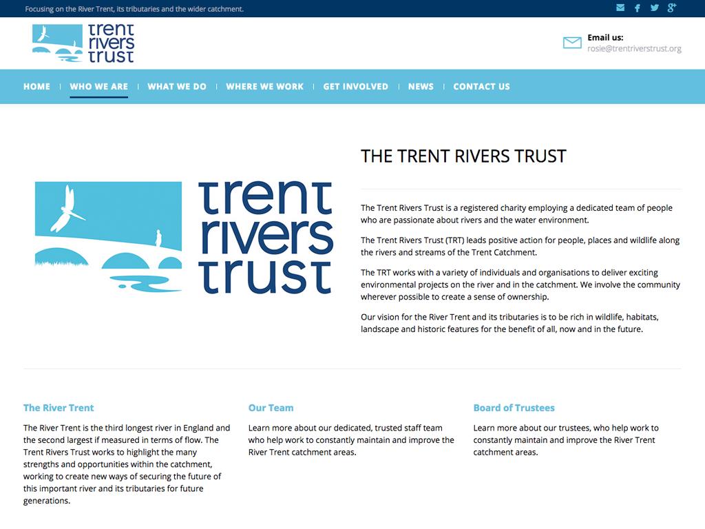 Fully responsive,CMS,website,design,Trent,Rivers,Trust,Sheffield,Branding,Graphic Design