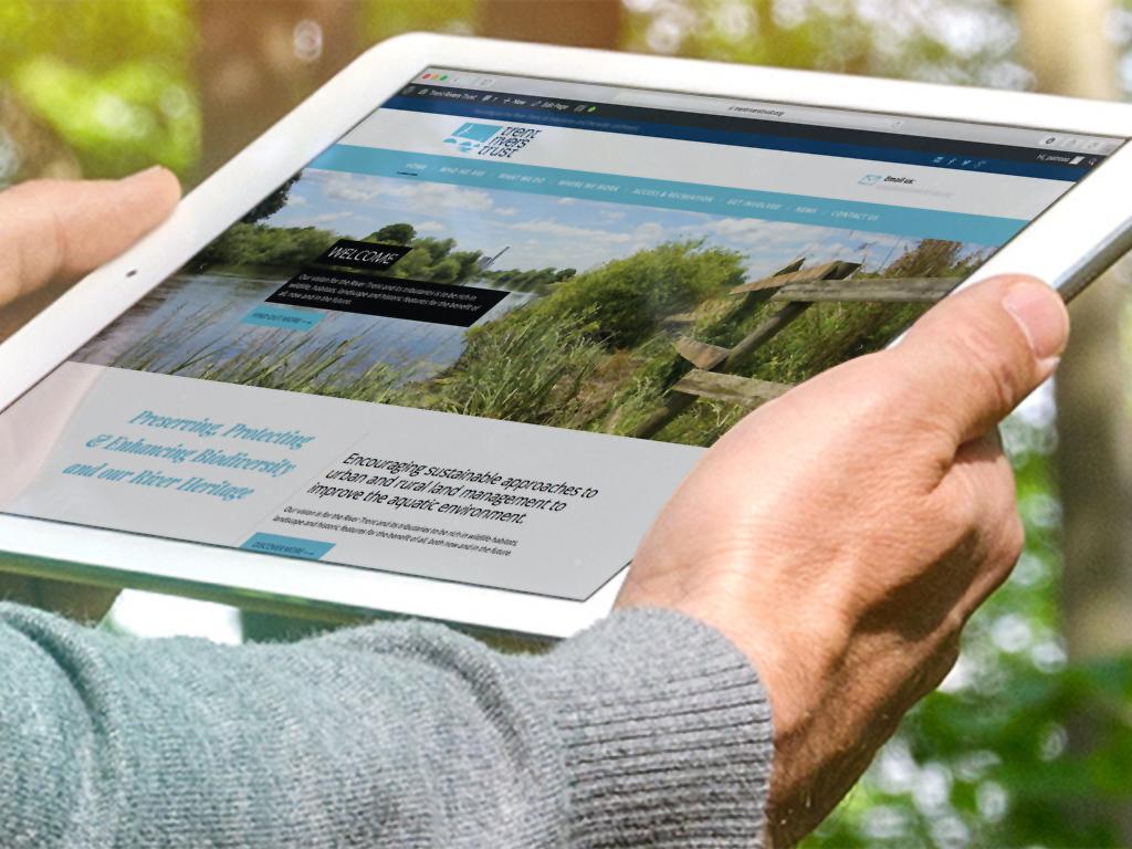 Trent_Rivers_Trust_Fully responsiveWebsite design, Wordpress, SEO, fully responsive, Sheffield, website build, brand consultancy, branding, graphic design