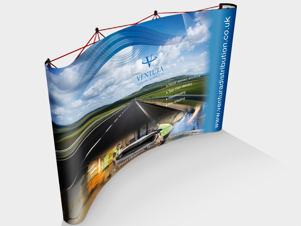 Ventura Network Distributions, pop up banners, pull up banner, graphic design, branding