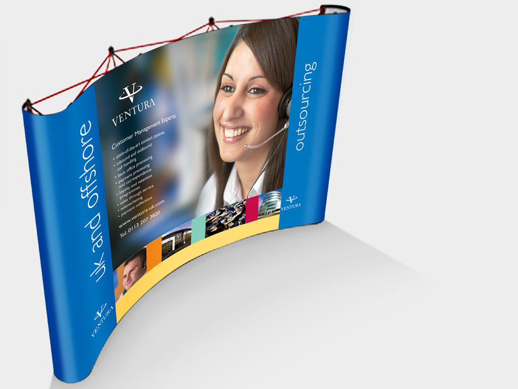 Ventura, pop-up, exhibition, Stand, pull up banner, graphic design, branding