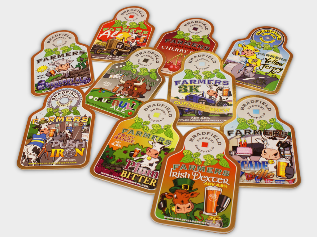 Bradfield Brewery, pump clip, Graphic design, brand consultancy, design agency, Genie Creative, Sheffield