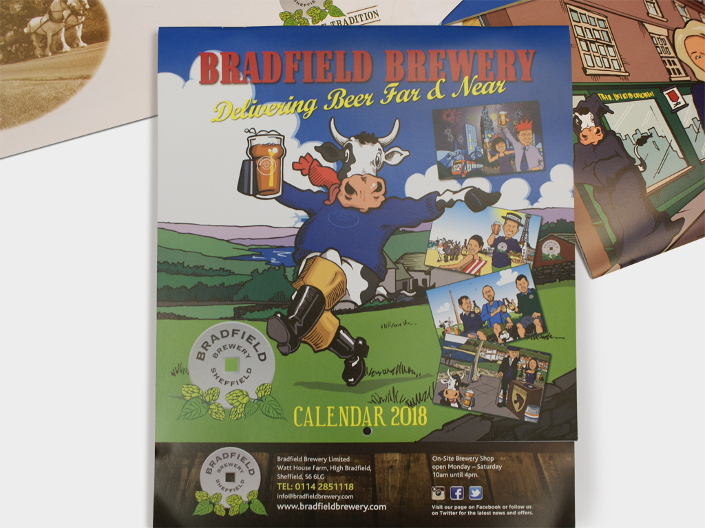 Bradfield Brewery, 2018, Calendar, Graphic design, brand consultancy, design agency, Genie Creative, Sheffield