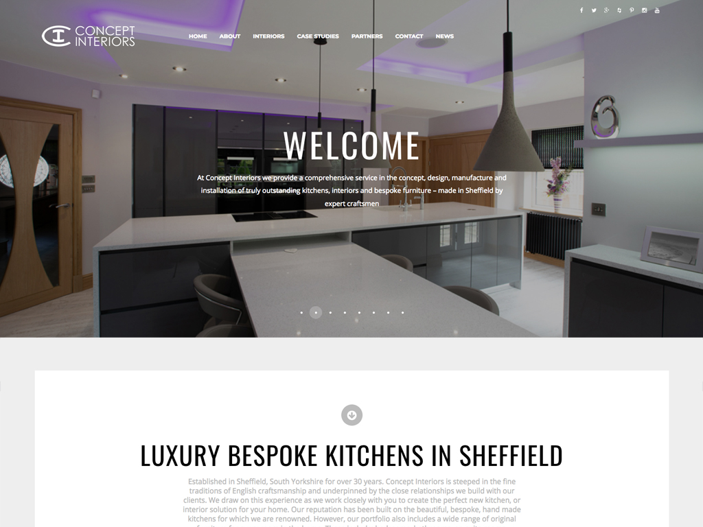 Fully responsive,CMS,website,design,Concept Interiors,Sheffield,Branding,Graphic Design