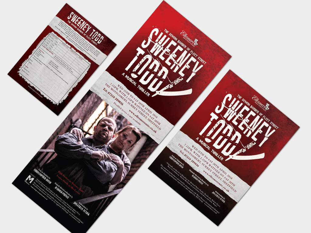 Sweeney Todd branding, graphic design