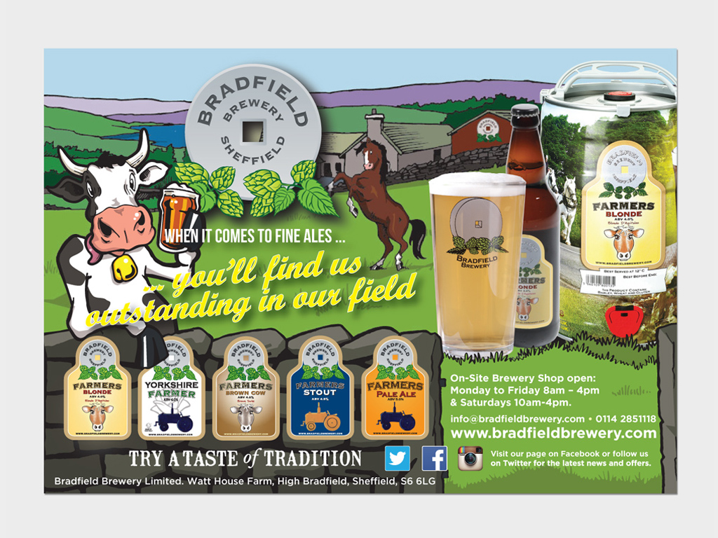 Bradfield Brewery, Press ad, Graphic design, Sheffield, brand consultancy, consultant, design agency, genie creative, Sheffield