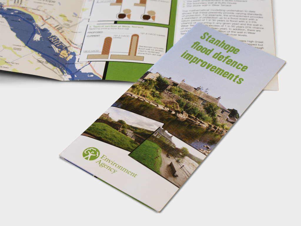 Environment Agency, leaflet, booklet, branding, brand, graphic design, agency, brand, branding, consultants, Sheffield, design for print