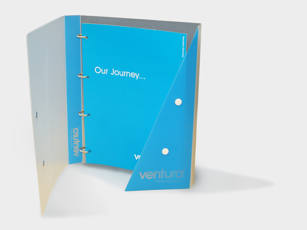 Ventura, marketing toolkit, binder, folder, branding, brand, graphic design, agency, brand, branding, consultants, Sheffield, design for print