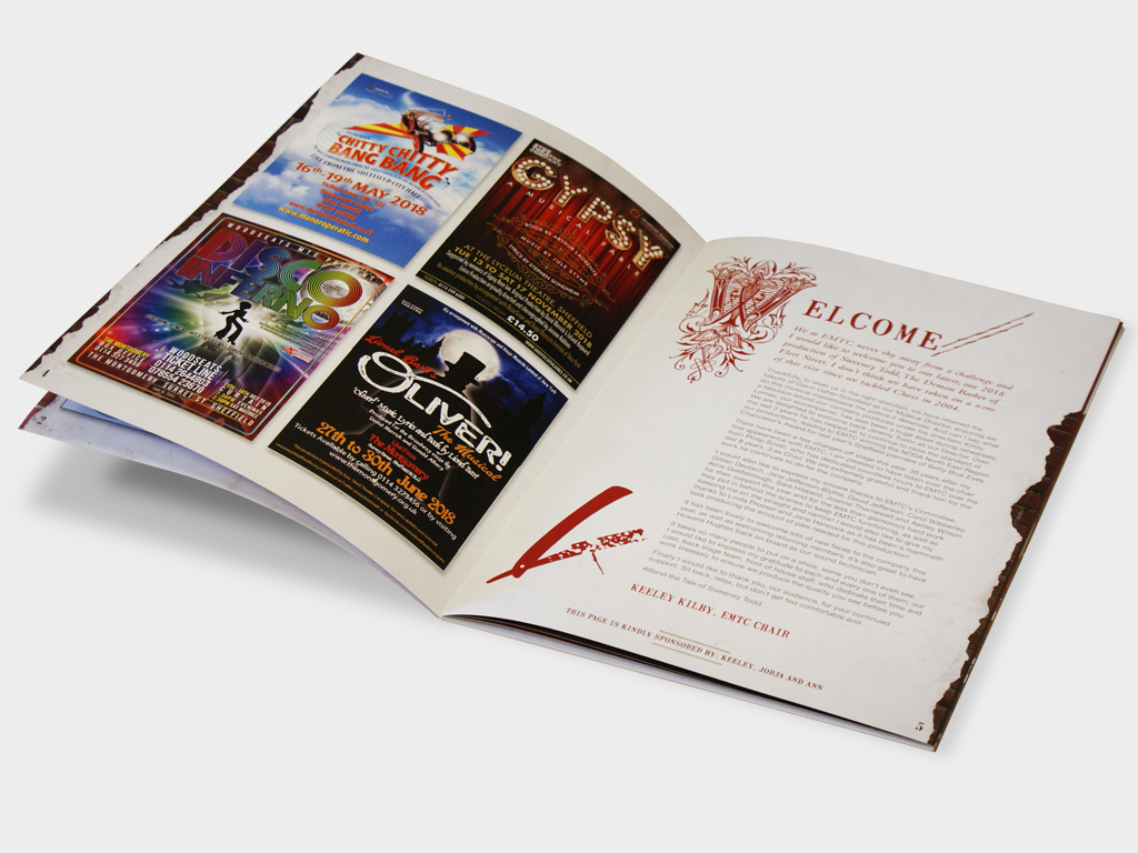 Sweeney Todd branding, graphic design