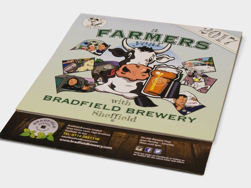 Bradfield Brewery, 2017, Calendar, Graphic design, brand consultancy, design agency, Genie Creative, Sheffield