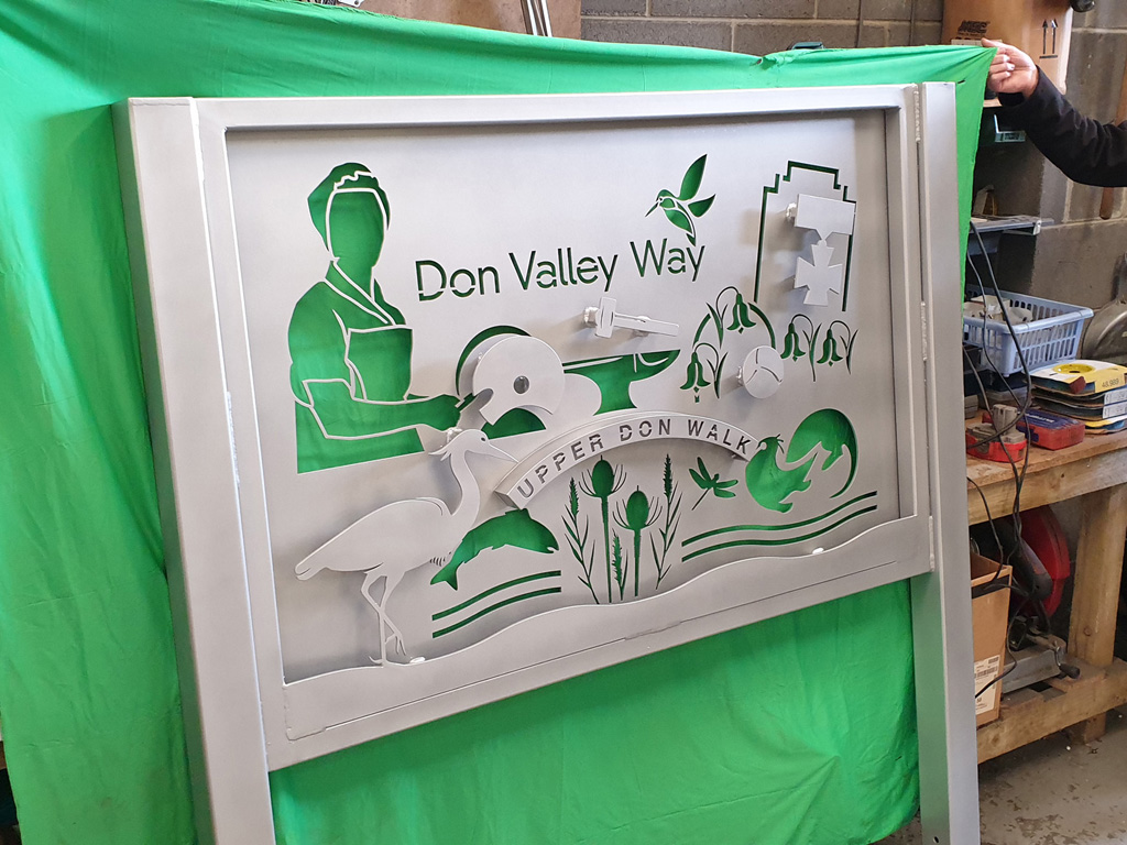 DCRT Don Valley Way fabricated sign design