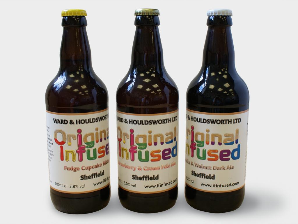 Bottle label, graphic design