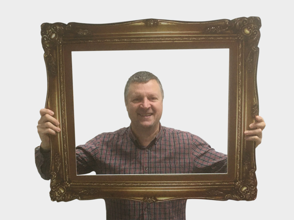 3D effect, Rococo style large selfie frame