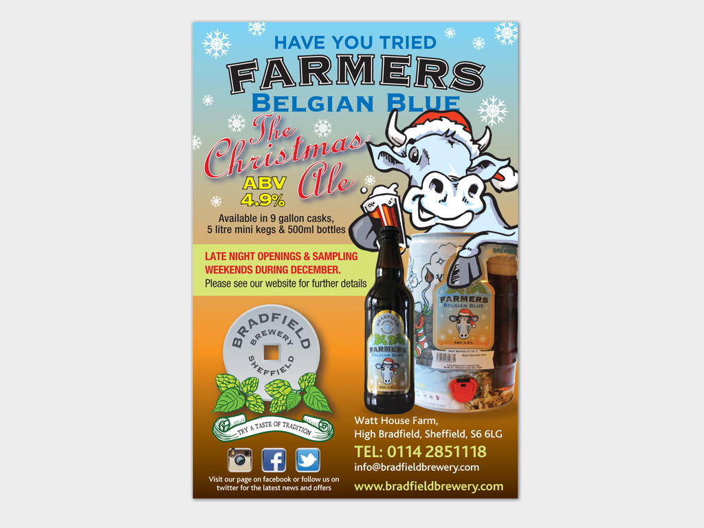 Farmers, Belgian Blue, press ad, graphic design, sheffield, branding, brand