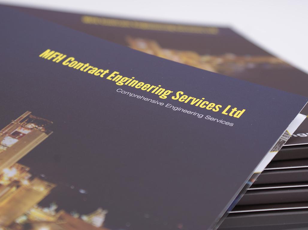 Bespoke marketing folder for MFH Contract engineering