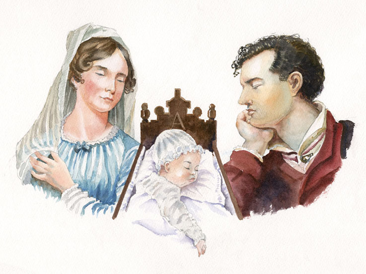 Lord Byron with young Ada lovelace
