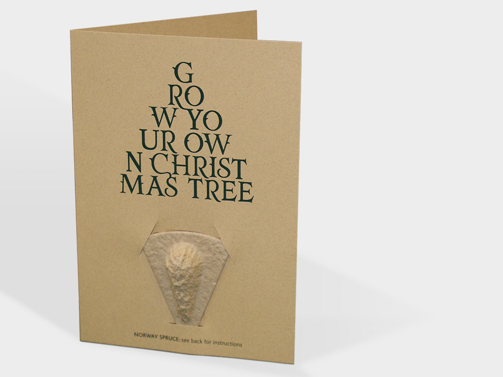 Bespoke 100% recycled Christmas card design