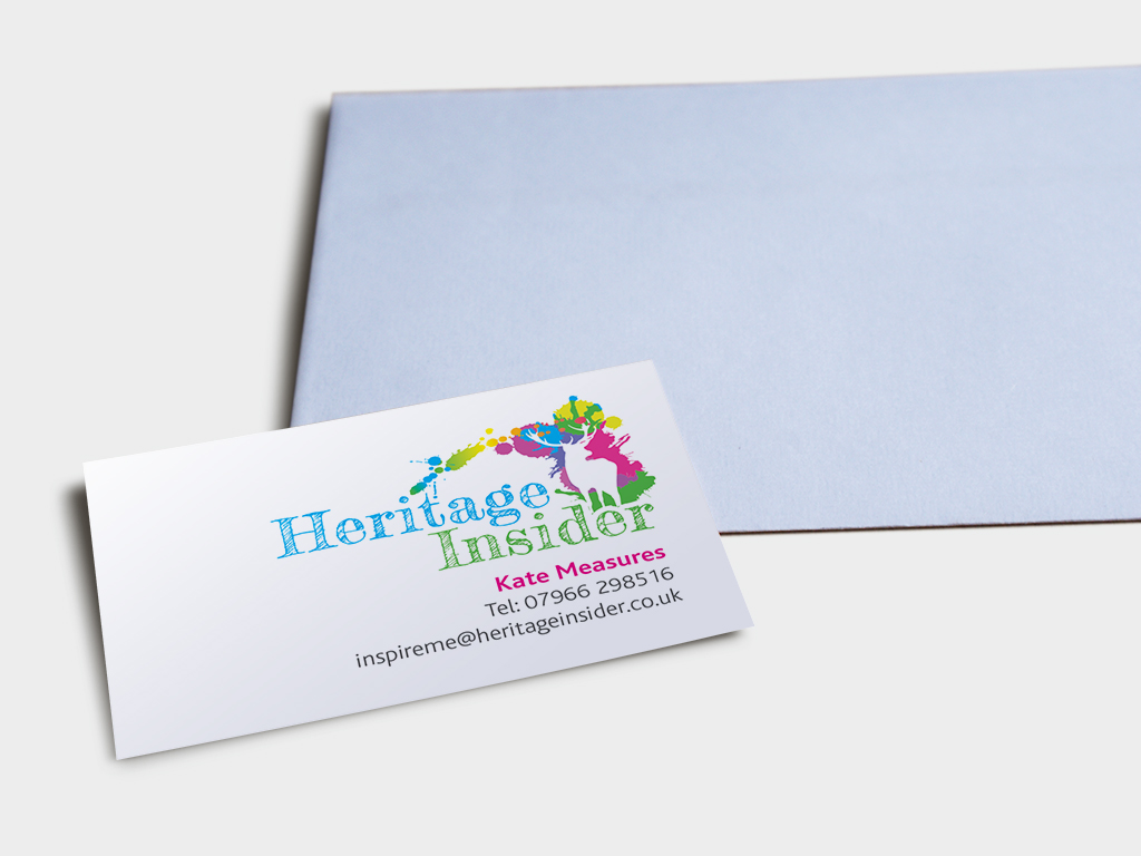 Graphic design of stationery for heritage Insider