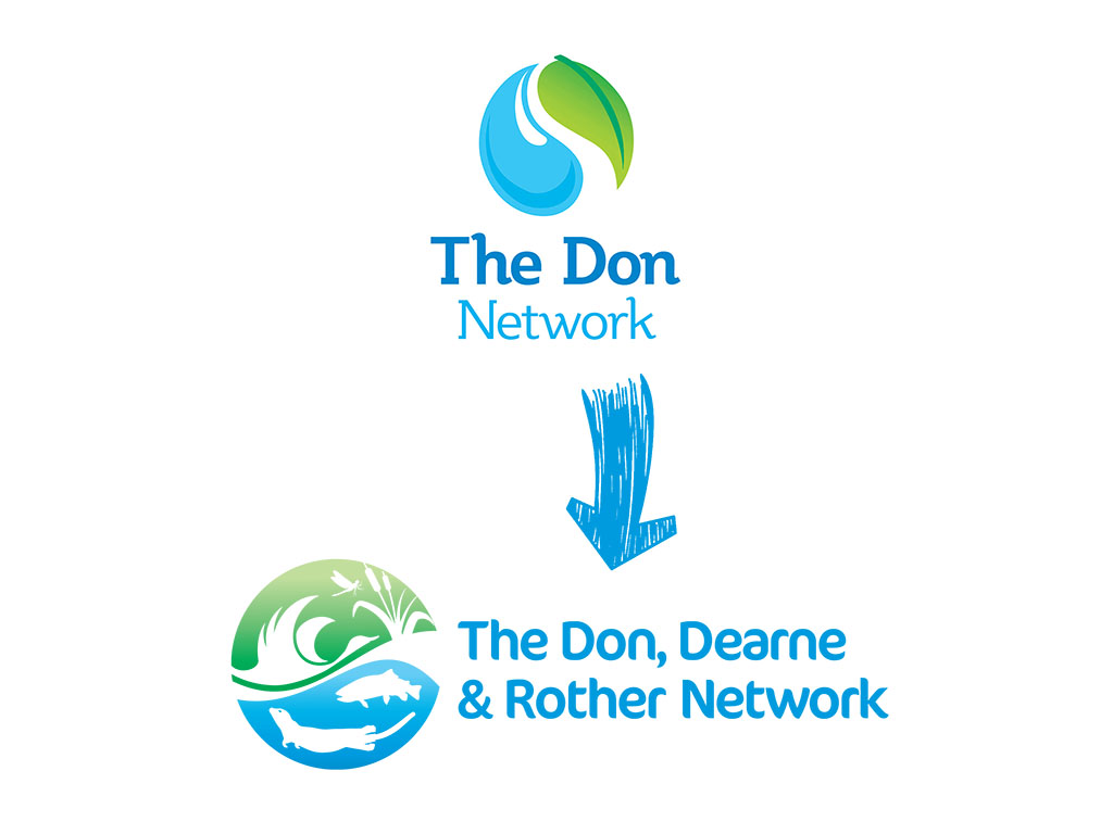 Don, Dearne & Rother Network logo brand development
