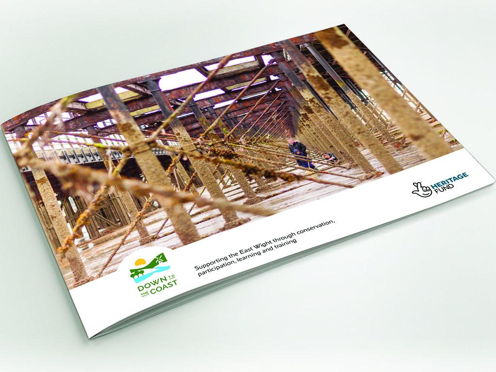 Graphic design of modern brochure