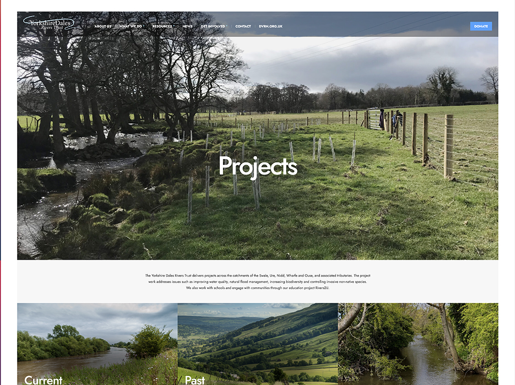 YDRT Projects web page
